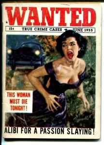 Wanted 6/1955-weird terror-Manhattan Manhunt-stripper-violence-very rare-VG/FN