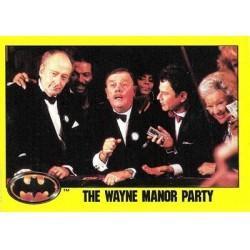 1989 Batman The Movie Series 2 Topps THE WAYNE MANOR PARTY #154