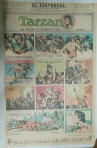 Tarzan Sunday Page #636 Burne Hogarth from 5/16/1943 in Spanish! Full Page Size