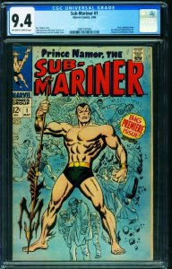 SUB-MARINER #1 CGC 9.4-1967-Marvel first issue-2085747003