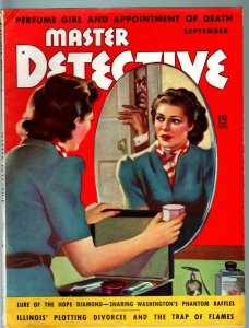 MASTER DETECTIVE SEP 1939-FN-THE DOPE MOB-CREEPY COVER-TRUE CRIME MAGAZINE FN