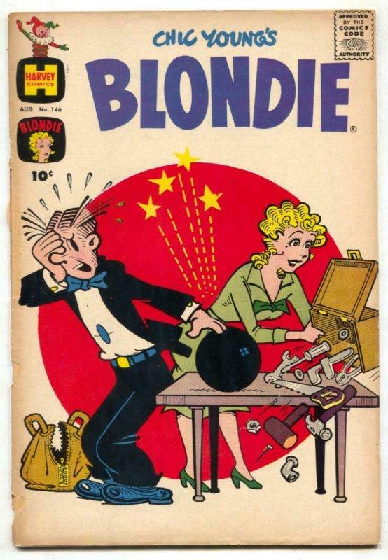 Blondie Comics #146 1961- Harvey humor G-