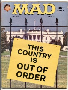 Mad Magazine #142 1971-Great whitehouse cover- Dirty Old Man