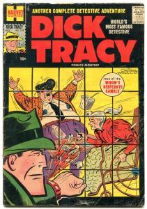 Dick Tracy  #125 1958-Harvey-crime scene cover-Chester Gould- VG-
