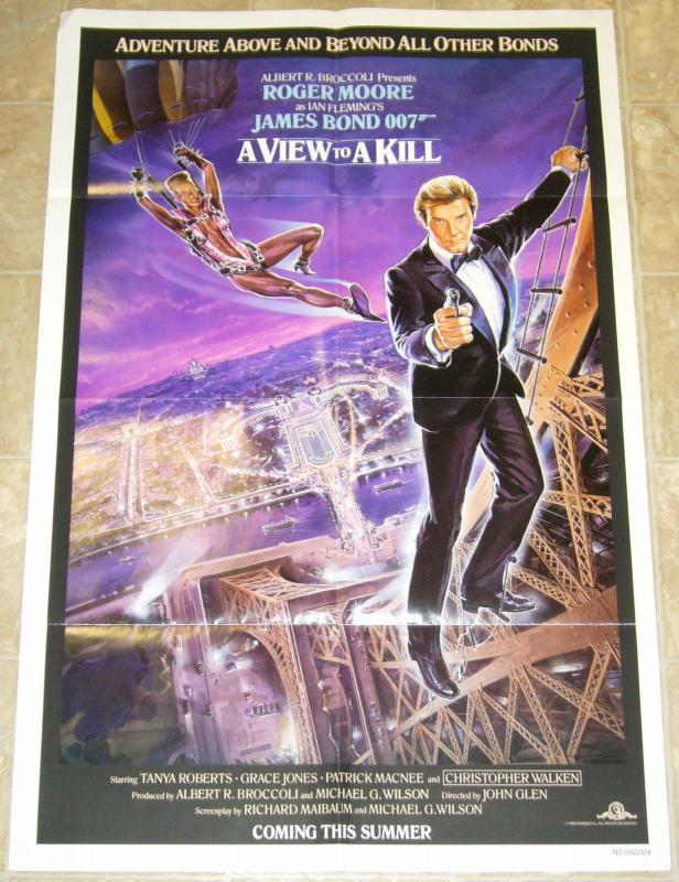 Ian Fleming's James Bond 007 A View To A Kill one sheet poster 41 x 27 moore