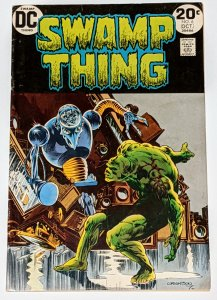Swamp Thing #6 (Oct 1973, DC) VG+ 4.5 Robot cover Bernie Wrightson cover