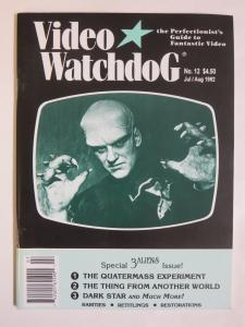 Video Watchdog Magazine #12 July August 1992 Quatermass Dark Star Thing Another+