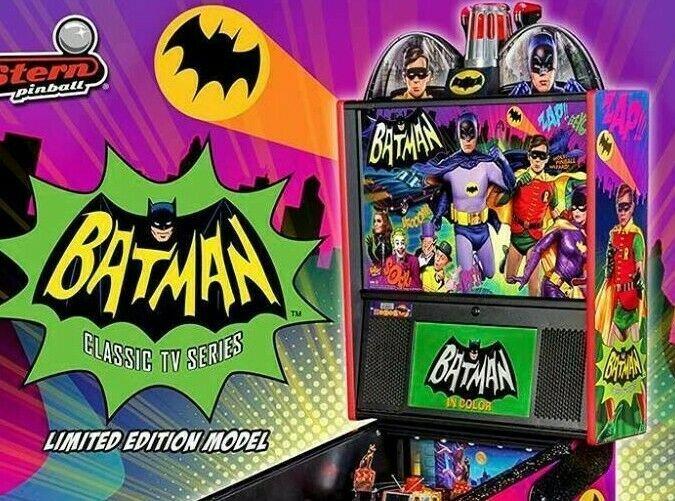 Batman 66 Limited Pinball Flyer Original NOS Superhero Art Print Adam West 2017