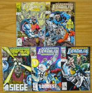Deathlok: Cyberwar #1-5 VF/NM complete story - silver sable - marvel comics set