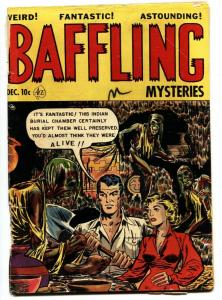 Baffling Mysteries #12-CAT FIGHT-HUMAN EXPERIMENTS-WEREWOLVES 1952