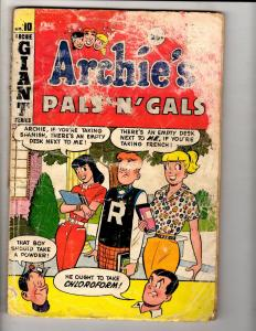 Lot Of 6 Archie Comic Books Pals & Gals # 10 Giant 15 Giant 189 190 209 213 J305