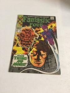 Fantastic Four 78 Vg+ Very Good+ 4.5Q Extra Staple Added Marvel Silver Age