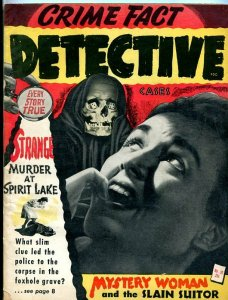 CRIME FACT DETECTIVE CASES-1945-DESPERADO MURDERS-JIGSAW CORPSE-MYSTERY WOMAN G