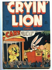 The Cryin' Lion #2 1944- Funny Animals- HITLER APPEARANCE