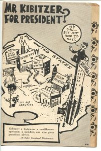 Vote for Roosevelt Flyer1940-Wendell Wilkie-rare fold over-presidential elect...