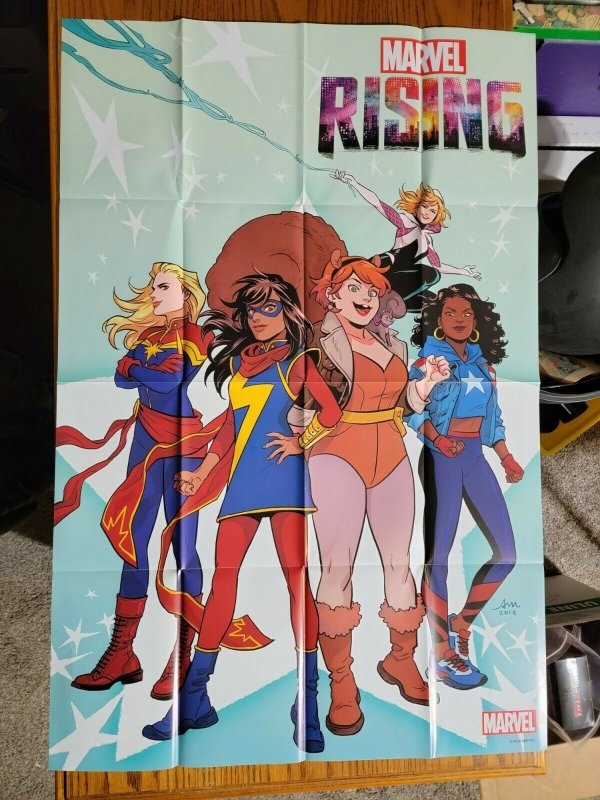 LARGE 36 x 24 Marvel Rising Promo Poster Captain Marvel Gwen Squirrel Girl