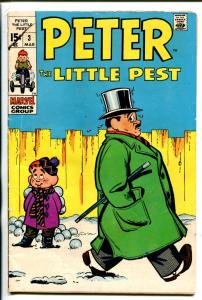 PETER THE LITTLE PEST #3-1970-MARVEL-JOE MANEELY ART-vg