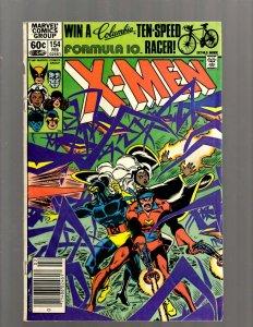 Uncanny X-Men # 154 VG/FN Marvel Comic Book Wolverine Storm Beast Angel J450