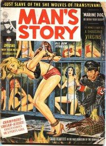 MAN'S STORY-JUNE-1963-NAZI BONDAGE-WEIRD MENACE-HORROR-PULP-CHEESECAKE
