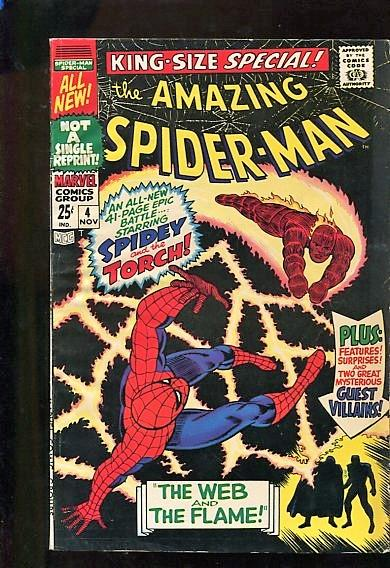AMAZING SPIDER-MAN ANNUAL  #4  (1968) 9.2  WHITE PAGES   BEAUTIFUL SQUARE BOUND