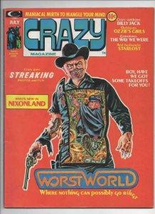 CRAZY #5 Magazine, VG, Nixon, WestWorld, 1973 1974, more in store
