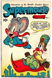 SUPERMOUSE #2 (Feb '49) 5.5 FN- You Won't Find a Nicer Copy! 3 FRAZETTA illos!