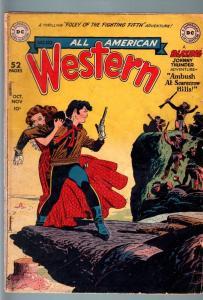 ALL-AMERICAN WESTERN #110-DC-1949-ALEX TOTH & JOE KUBERT ART-JOHNNY THUNDER-VG G