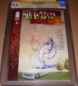 Negative Burn #7 CGC 9.6 SIGNED Georges Jeanty ORIGINAL SKETCH Image 2006 NM+