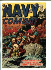 NAVY COMBAT #11-1957-ATLAS-JOE MANEELY-DON HECK-DAVY BERG-good
