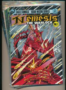 Eagle Comics 7 Issue Series-NEMESIS THE WARLOCK #1-#7  VERY FINE+ (PF733)