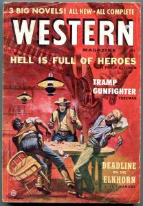Western Magazine Pulp April 1957- Poker cover- Philip Ketchum VG