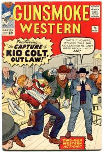 Gunsmoke Western  #76 1963-Marvel-Jack Kirby-Kid Colt VG/F