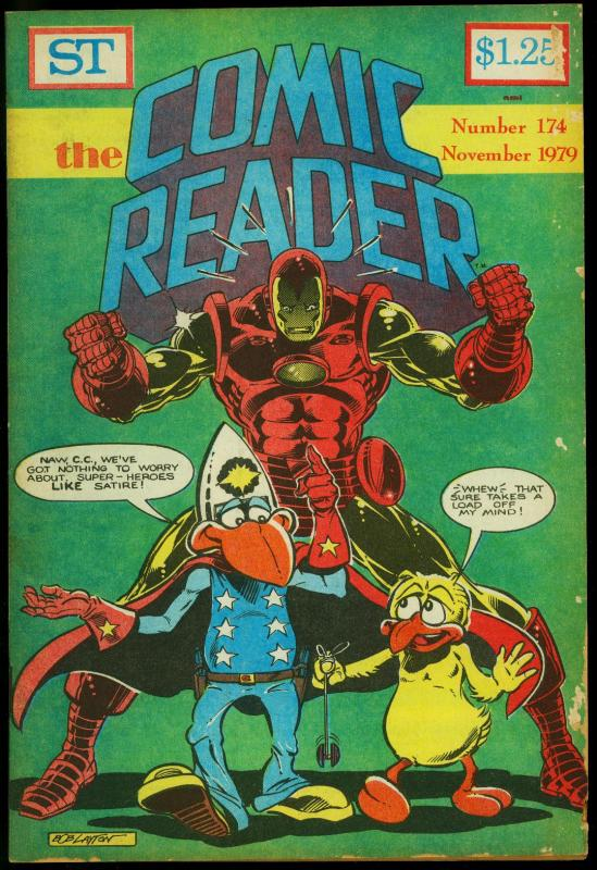 Comic Reader #174 1979- Fanzine- Iron Man cover G