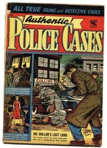 Authentic Police Cases #31 1954- Matt Baker cover- Golden Age Crime G+