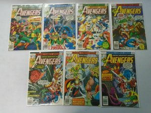 Avengers lot 19 different 30c+35c covers from #158-182 avg 7.0 FN VF (1977-79)