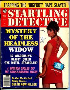 Startling Detective 5/1990-Globe-Headless Widow-lurid-violent-spicy cover-G