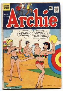 Archie #158 1965-Betty-Veronica-Jughead- Beach Bikini cover VG-