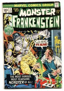 Monster of Frankenstein #1 1973- Marvel Horror- Ploog VG