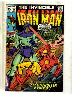 Iron Man # 28 GD Marvel Comic Book Avengers Hulk Thor Captain America J462