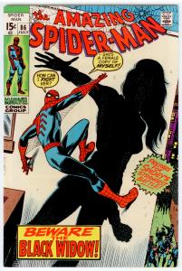 Amazing Spider-Man #86 VF/NM 9.0  New look for Black Widow