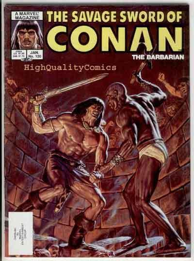 SAVAGE SWORD of CONAN #120, FN+, Kull the Conqueror, more SSOC in store