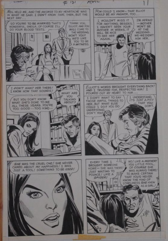 MIKE SEKOWSKY, DICK GIORDANO original art, FALLING in LOVE 131, Mom the ManTrap