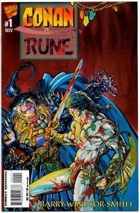 CONAN VS. RUNE #1 (1995) 9.4NM • Barry Windsor-Smith! Barbarian vs. Vampire