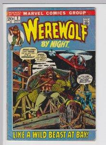 Werewolf by Night #2 (Nov 1972) 4.5 VG+ Marvel Horror