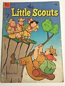 FOUR COLOR#550 GD 1954 LITTLE SCOUTS DELL GOLDEN AGE COMICS
