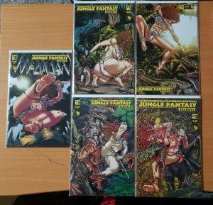 Jungle Fantasy Secrets 0 + 1-4 Lorelei VARIANT Complete Set Run! ~ NM ~