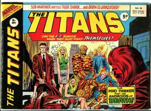 Titans #39 1976- British reprints- Neal Adams- Jack Kirby VG