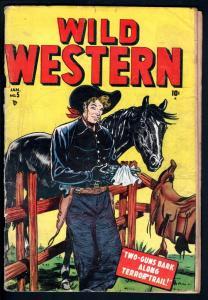 WILD WESTERN #5-1949-TWO-GUN KID-BLACK RIDER-GOLDEN AGE-VG VG
