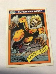 SABRETOOTH #57 : 1990 Marvel Universe Series 1 card, NM/M high grade, X-Men