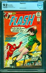 Flash #211 CBCS NM- 9.2 Off White to White DC Comics